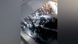 Colapsan escaleras eléctricas del Metro Tacubaya, hay al menos dos lesionados