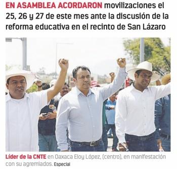 Desafía la CNTE con tres días de protestas