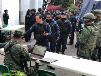 Sedena continúa revisión de armamento asignado a la CES en Morelos