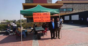 Maestros de FES Aragón, inician huelga de hambre para que la UNAM transparente recursos