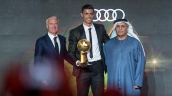 Cristiano Ronaldo recibe el Globe Soccer Awards como el Mejor Jugador del 2018
