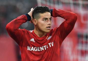 James Rodríguez causa baja del Bayern por lesión en la rodilla