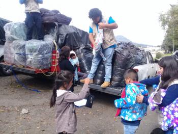Por frío en Tlalpan implementan programa para la población vulnerable
