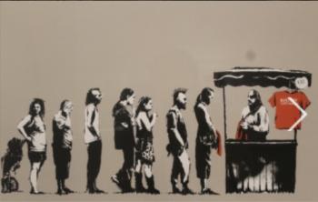 Frustran robo de pieza Banksy
