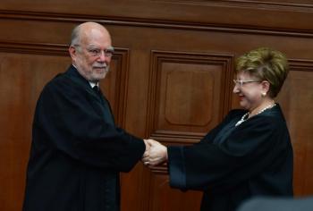 Inicia sesión solemne de la SCJN, dan la bienvenida a Alcántara Carrancá