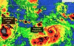 Alerta en Chiapas y Oaxaca por depresión tropical 23-E; provocará tormentas intensas