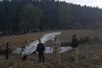 Avioneta tipo Cessna se desploma cerca del Nevado de Toluca
