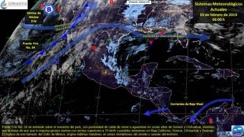 Se prevén tormentas y lluvias por frente frío 34