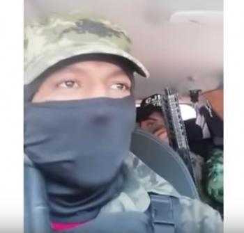 Presuntos miembros del CJNG, amenazan a ladrones que operan en la GAM